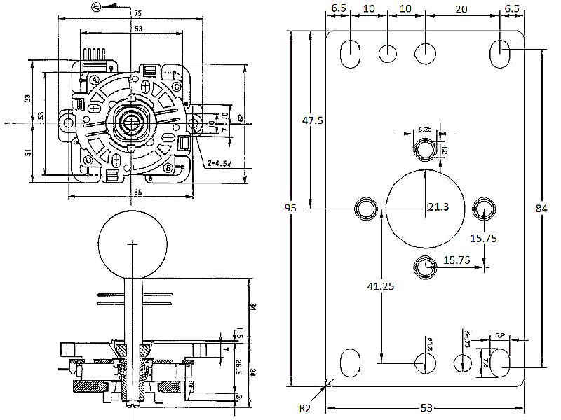 Sanwa Jlf Series Joystick  U2013 Replica